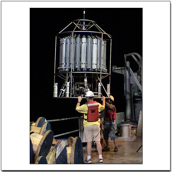 Night-time CTD deployment