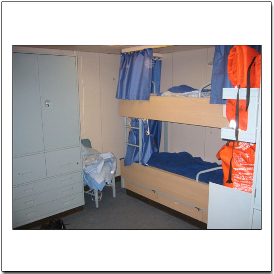 Stateroom for a scientist