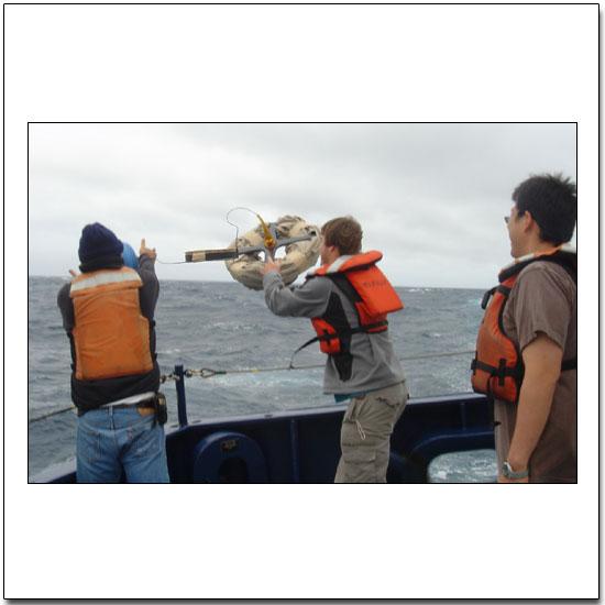 Launching a surface drifter