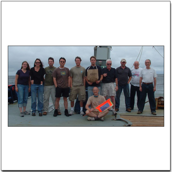 The Science Crew of the R/V Melville Magellan Leg 4