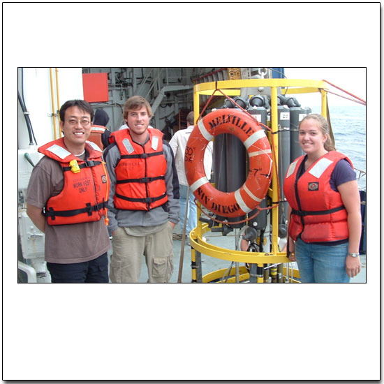 Some of the Science Crew of the R/V Melville Magellan Leg 4
