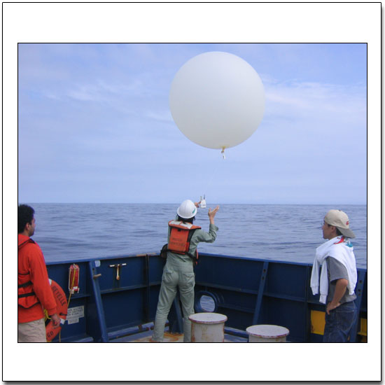 Releasing a sensor balloon and its sensor package