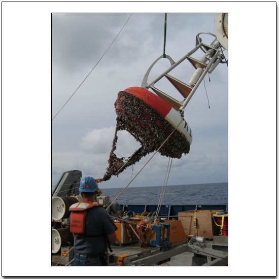 Recovering the KEO buoy