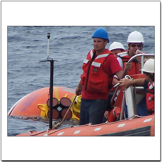 Recovering a loose mooring float equipped with an ADCP